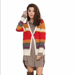 Dr. Who Knit Striped Cardigan Sweater S/M